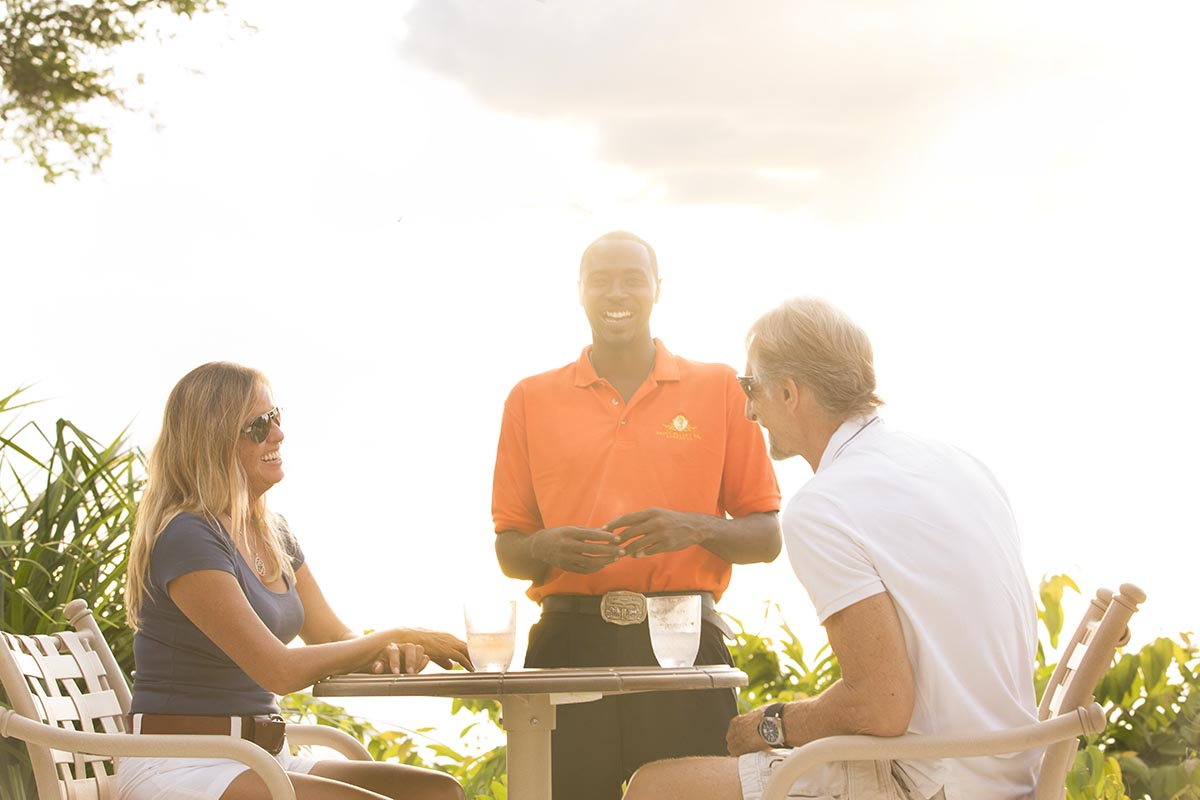 Couple dining at UNNA resort in Barbados
